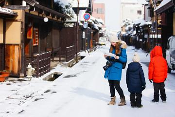 Family in Takayama town