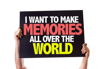 I Want to Make Memories All Over the World card isolated