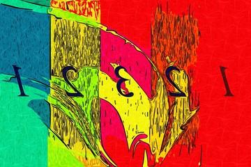 Fotobehang Graffiti collage Abstract color design art