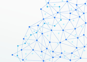 blue abstract layered networking web horizontal background