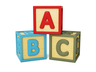 ABC building blocks isolated
