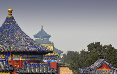 Poster Beijing Temple of Heaven in Beijing - China