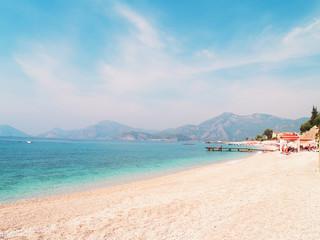 Beautiful seascape of mediterranean waters at Fethiye, Turkey