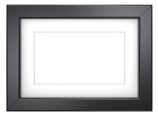 Black picture frame.Frame with Passepartout. Black,isolated.