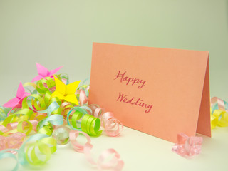 Massage Card; Happy Wedding
