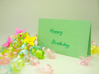 Massage Card; Happy Birthday