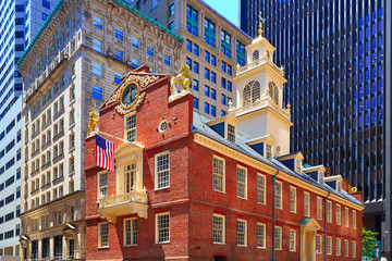 Wall Mural - Boston Old State House in Massachusetts