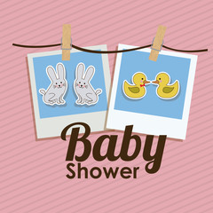 Baby Shower design, vector illustration