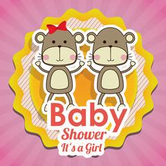 Baby Shower design, vector illustration