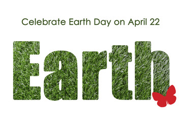 Earth Day, April 22, concept