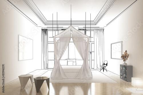 schlafzimmer im licht entwurf zdj stockowych i obraz w royalty free w obraz. Black Bedroom Furniture Sets. Home Design Ideas