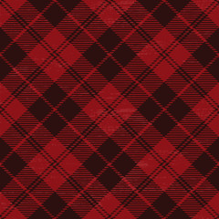 Red grunge plaid tartan 1