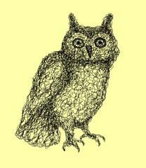 Owl abstract vector