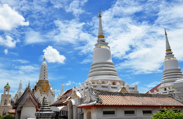 Buddhist temple on brightness day