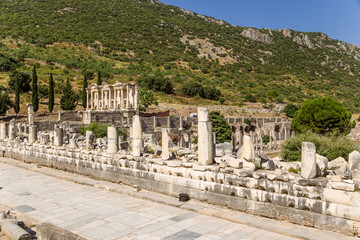 Archaeological site of Ephesus. Stoa of Nero.