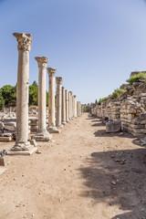 Ephesus, Turkey. Columns of Tetragonos Agora, Roman period