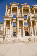 Ephesus. The facade of the Library of Celsus, 114 - 135 years AD