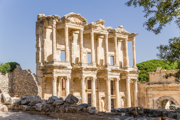 Ephesus. The facade of the Celsus Library, 114 - 135 years