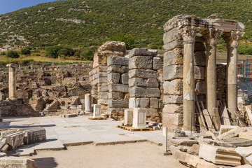 Ancient Ephesus. Ancient ruins on a street