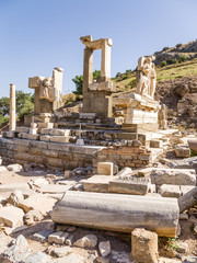 Archaeological site of Ephesus. Mausoleum of Memmius, III c. BC