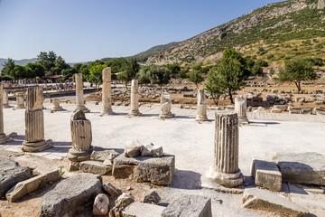 Ephesus, Turkey. The ruins of the Roman Stoa Basilica