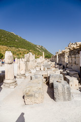 Ancient Ephesus, Turkey. The ruins of the Basilica