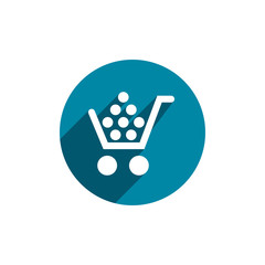 Cart vector icon isolated.