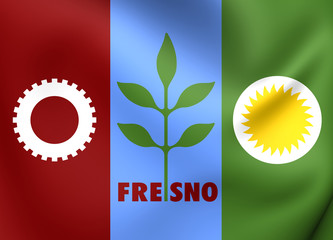 Flag of Fresno, USA.