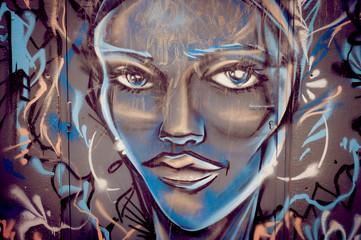 Graffiti portrait de femme