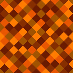 Orange and Red Colored Squares Seamless Background. Vector