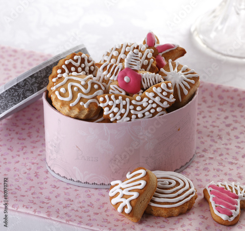 Hungarian Home Made Gingerbread Cookies Stock Photo And Royalty
