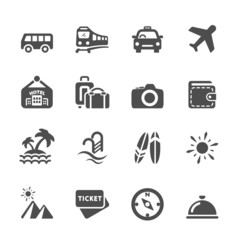 travel and vacation icon set 5, vector eps10
