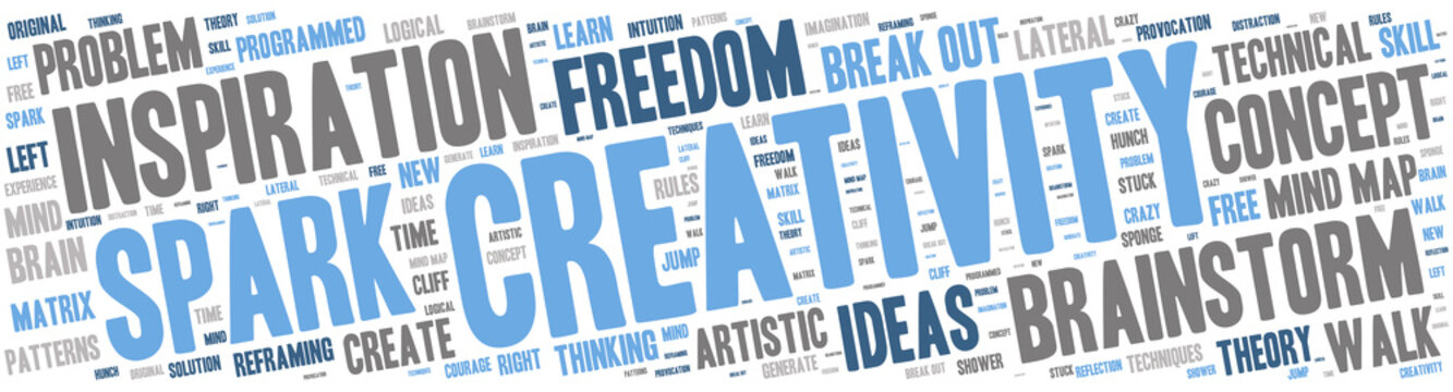Word Cloud - Creativity and Inspiration - Isolated Banner