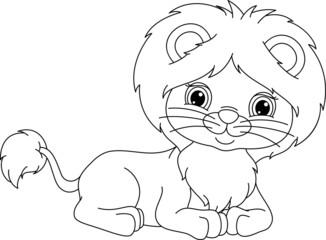 lion lies coloring page