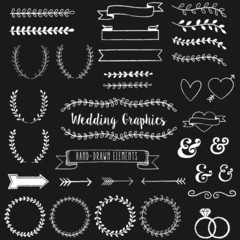 Chalkboard Wedding Clip Art