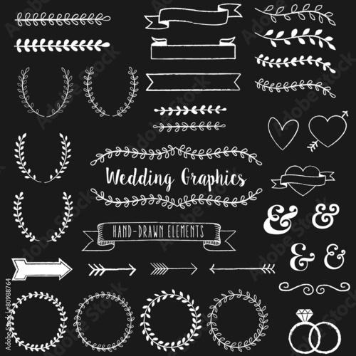 quotchalkboard wedding clip artquot stock image and royaltyfree