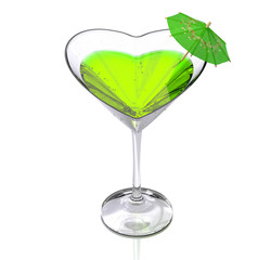 cocktail  heart-shaped