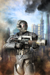 Wall Mural - Android unit heavy trooper