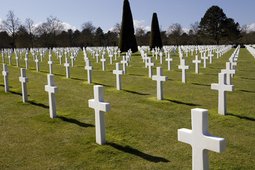 American Military Cemetery in Omaha Beach