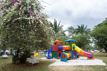 Multi-colored playground