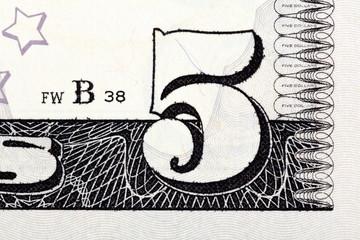5 dollars bill macro.