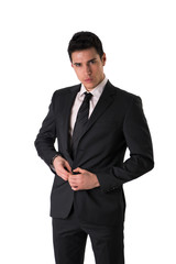 Handsome elegant young man with suit and neck-tie