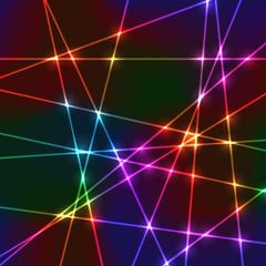 Laser random neon grid