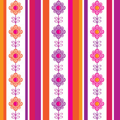 Vertical seamless floral pattern. Wrapping paper, cloth.