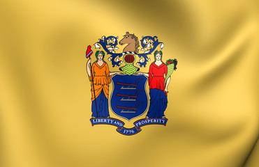 Flag of New Jersey, USA.