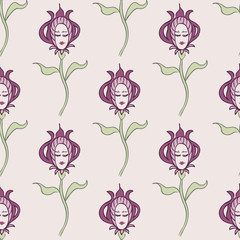 pink spring or summer seamless pattern