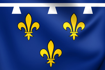 Flag of Orleanais, France.
