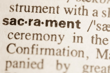 Dictionary definition of word sacrament