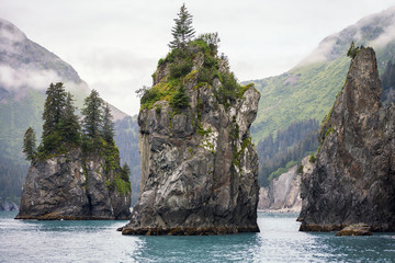 Sea Stacks, Kenai Fjords National Park, Alaska