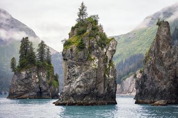 Sea Stacks, Kenai Fjords